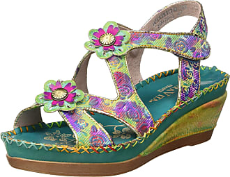 Laura Vita Womens Becatriceo 03 Platform Sandals, Green (Vert Vert), 4 UK