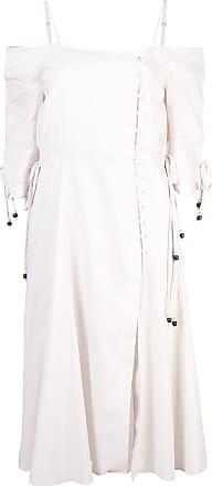 Jonathan Simkhai off-shoulder front slit dress - White