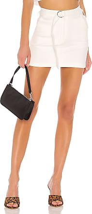 Superdown Laney Belted Mini Skirt in Ivory