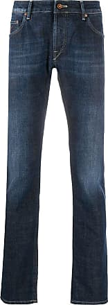 Hand Picked Calça jeans Orviet cintura baixa - Azul