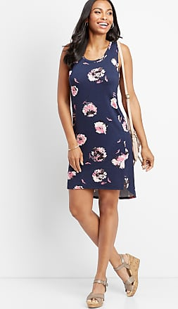 Maurices 24/7 Floral Scoop Neck Tank Dress