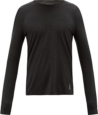 On Long-sleeved Mesh And Technical-jersey T-shirt - Mens - Black