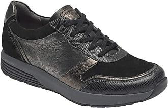 Rockport Womens Trustride Ubal Sneaker, Black Leather, 4.5 UK