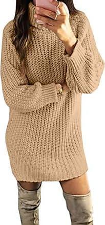 Strickkleid Pullover NEU Longpulli Sweater Kleid Größe 32 34 36 38 hellgrau grau