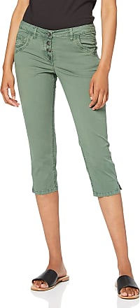 Tom Tailor Womens Tom Tailor Tapered Relaxed Trouser, Green (Pale Bark Green 13182), 8 (Size: 34)