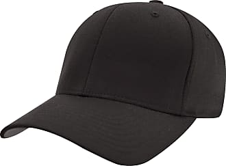 Yupoong Mens Flexfit Fitted Baseball Cap (LXL) (Black)