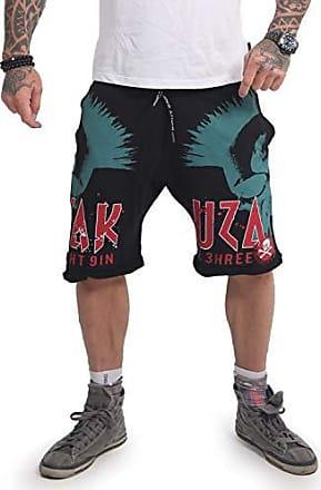 Schwarz Neue Yakuza Herren Track Tape Sweat Shorts