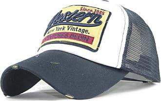 QUINTRA Embroidered Summer Cap Mesh Hats for Men Women Casual Hats Hip Hop Baseball Caps (Navy)