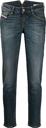 Diesel stonewashed boyfriend jeans - Azul