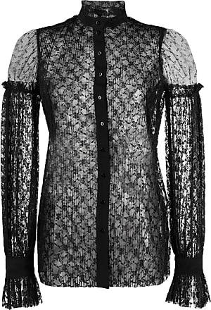 WANDERING Blusa com renda floral - Preto