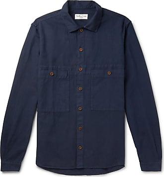 Ymc You Must Create Cotton And Linen-blend Overshirt - Navy