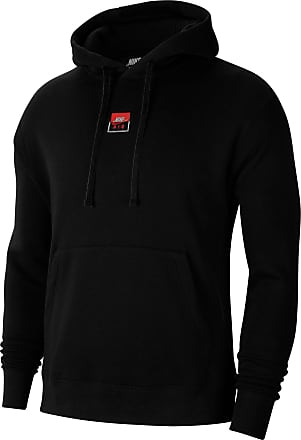 Nike NSW Air Hoodie Herren in black-university red-white, Größe XXL