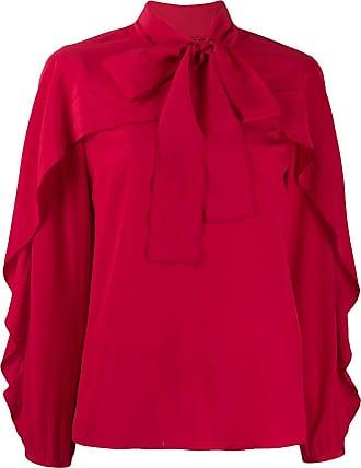 Red Valentino Camisa com franzido e aplicação de laço - Vermelho