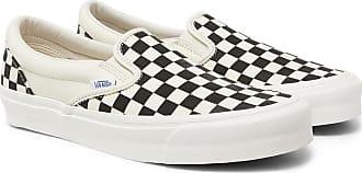 Vans Og Classic Lx Checkerboard Canvas Slip-on Sneakers - White