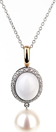 MIMI MILANO Agate Pearl Diamond Necklace