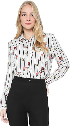 Facinelli by MOONCITY Camisa Facinelli by MOONCITY Floral Off-white/Preta