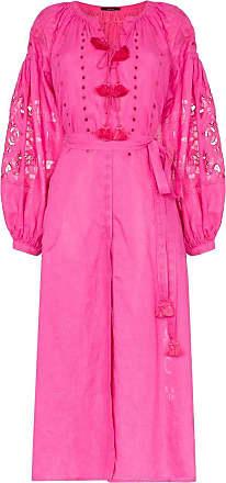 Vita Kin Vestido longo floral de linho - Rosa