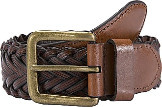 Dents Plaited leather single keeper belt tan (Extra Large)