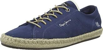 Pepe Jeans London Mens Tourist LAMU Suede Espadrilles, Blue (Jarman 574), 10.5 UK