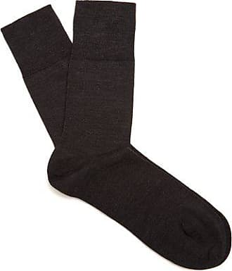 Falke Airport Wool-blend Socks - Mens - Dark Grey