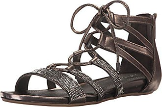 Kenneth Cole Reaction Womens Lost Look 2 Gladiator Sandal, Pewter, 5 M US