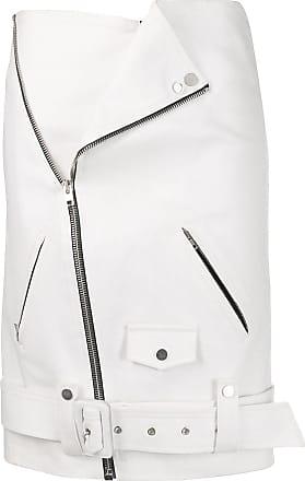 Zilver Biker Skirt in Recycled Denim - White