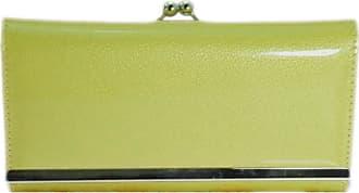 Girly HandBags New Girly Handbags Patent Glossy Wallet Ball Clasp Photo Elegant Evening Purse Colors Vintage (Neon Yellow)