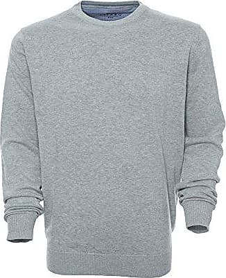 Kitaro Pullover Pulli Feinstrick Knit Herren Langarm Basic Baumwolle Plusgröße
