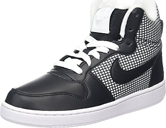on sale 41471 22542 Nike Womenss Court Borough Mid Se Basketball Shoes White Black 100, 4 UK