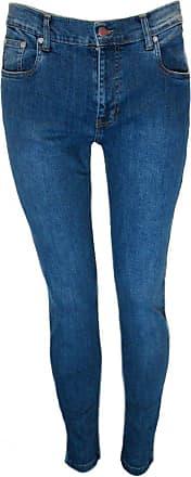 Relco Mens Denim Stonewash Stretch Jeans Blue 38