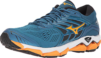 Mizuno Mens Wave Horizon 2 Running Shoes, Blue Sapphire/Bright Marigold/Black, 6 UK