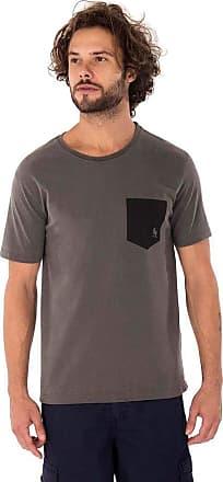 SideWalk Camiseta Bolso Canguru - Cinza Chumbo - Tam 1