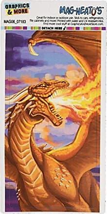 Graphics & More Dragon Breathing Fire Fantasy Medieval Mag-Neatos Automotive Car Refrigerator Locker Vinyl Magnet