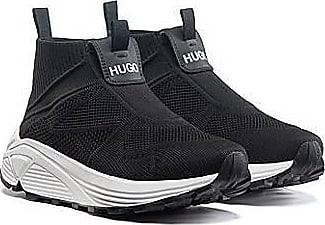 HUGO BOSS Sneakers im Laufschuh-Stil mit Vibram-Sohlen und Stricksocken