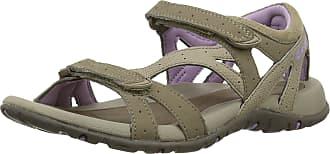 Hi-Tec Womens Galicia Strap Sandals - Taupe/Dune/Elderberry, 5 UK