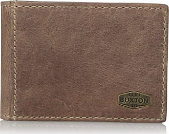 9104003ec Buxton Mens Expedition RFID Blocking Leather Slimfold With Money Clip