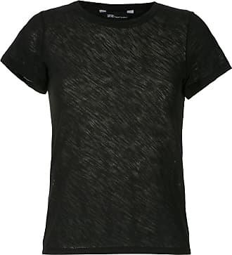 Uma T-shirt a coste - Di colore nero