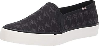 Keds Womens Double Decker Houndstooth Sneaker, Black, 7.5 M US