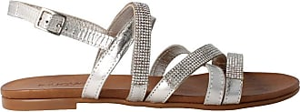 Inuovo 6342 - Womens Silver Leather Sandal Silver Size: 8.5 UK