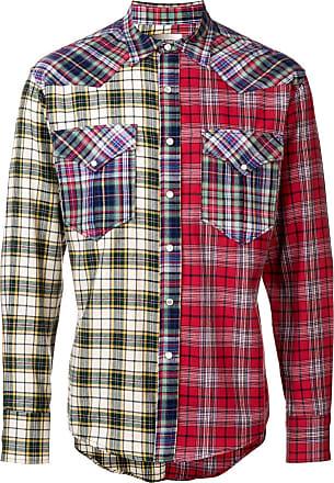 Isabel Marant Camisa Billy xadrez com recortes - Vermelho