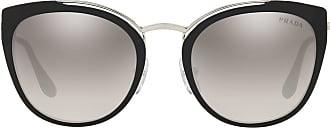 Prada Óculos de sol oversized redondo - Preto