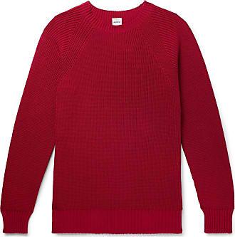 Aspesi Slim-fit Cotton Sweater - Red