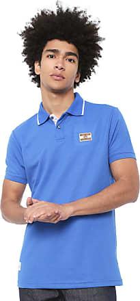 Ecko Camisa Polo Ecko Reta Listra Azul