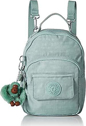 Kipling Womens Alber 3-in-1 Convertible Mini Bag Backpack, Wear 3 Ways, Zip Closure, fern green tonal