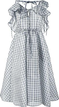 Rosie Assoulin Vestido Detour de seda - Azul