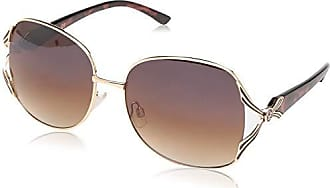 Jessica Simpson Womens J5514 Gldts Non-Polarized Iridium Round Sunglasses, Gold Tortoise, 60 mm