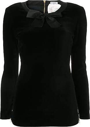 Chanel CHANEL Long Sleeve Zipper Tops - Black