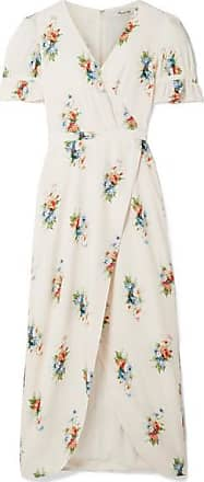 Madewell Magdalena Wrap-effect Floral-print Voile Maxi Dress - Cream
