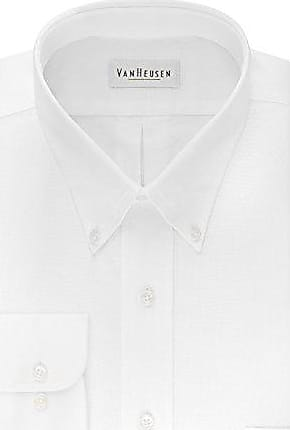 Van Heusen Mens Regular Fit Oxford Button Down Collar Dress Shirt, White, 3X-Large