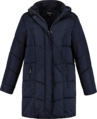 Ulla Popken Womens Plus Size Princess Seam Quilted Jacket Navy 28/30 718981 70-54+